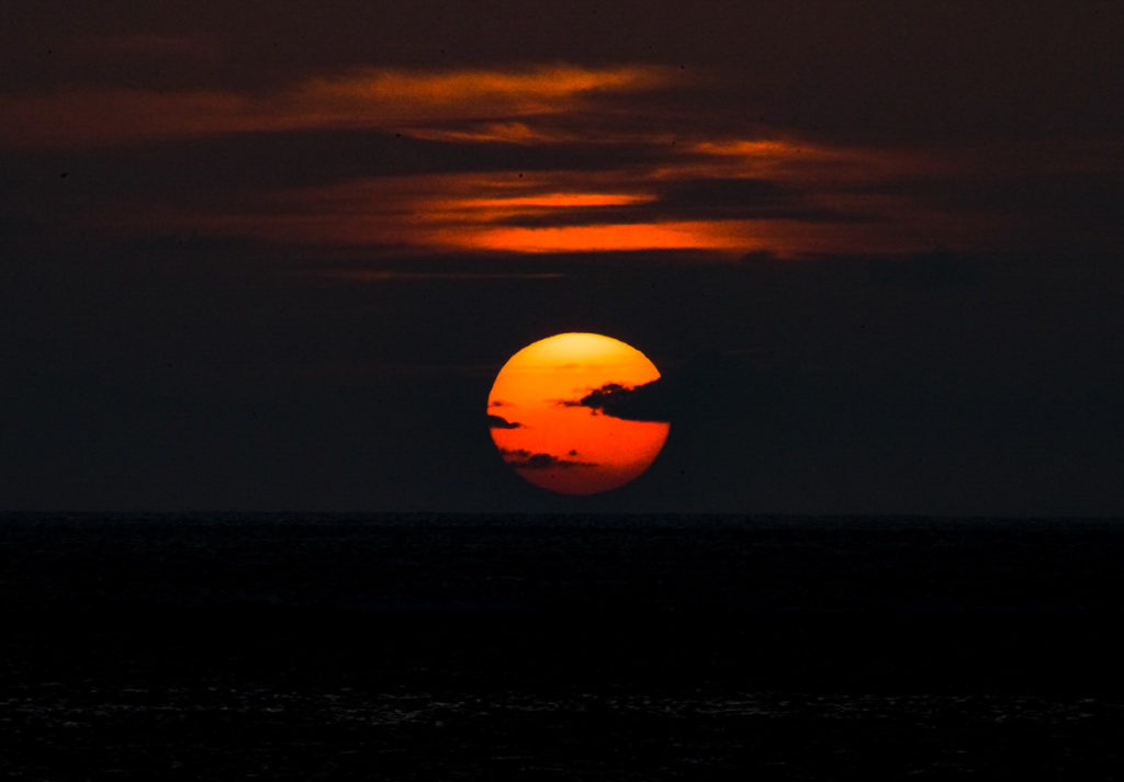 17ENDの夕日